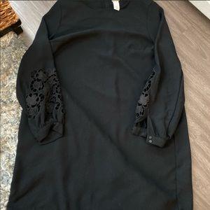 Black dress with lace details